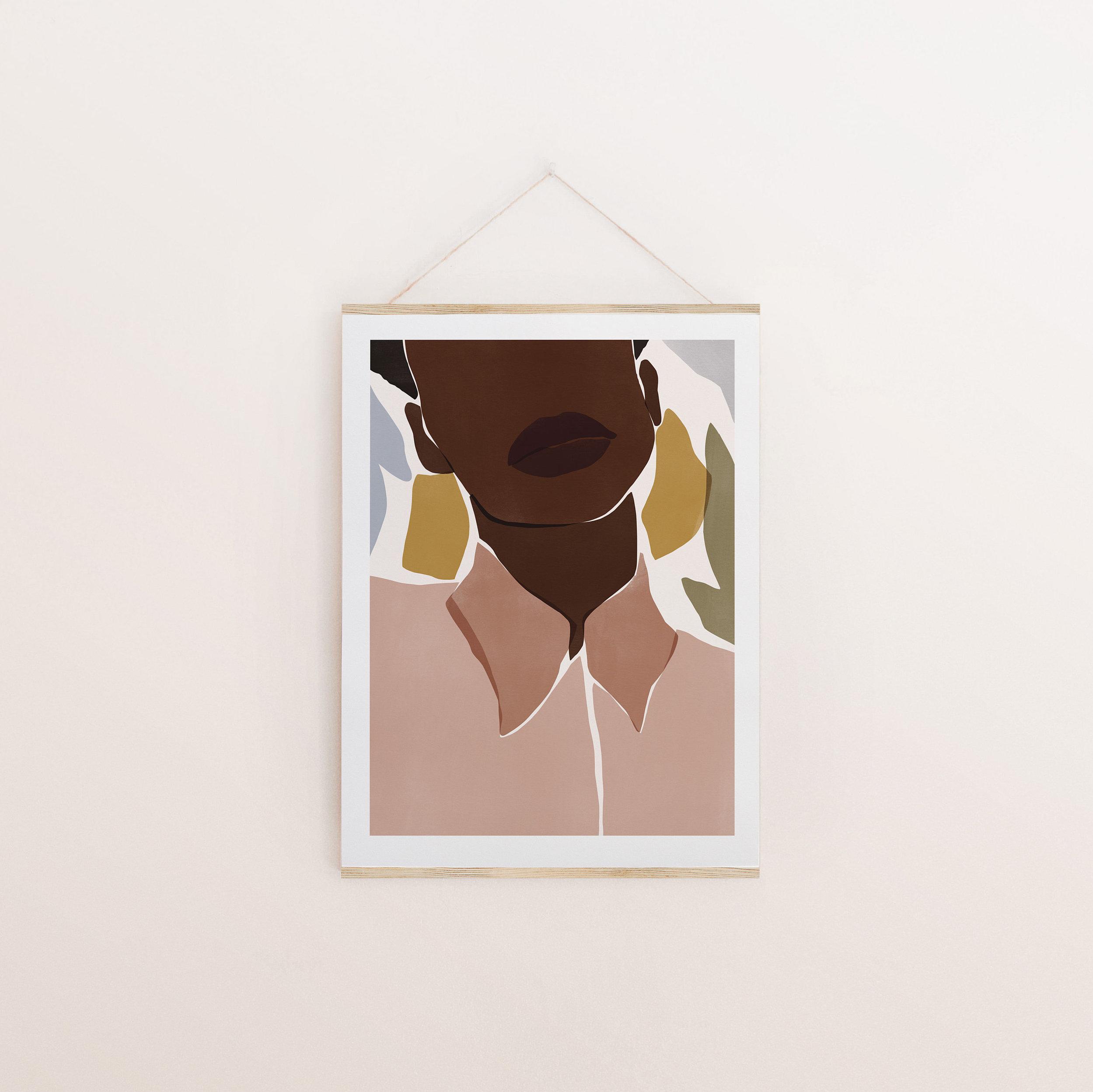 Illustration etsy Sacrée Frangine affiche poster art frame