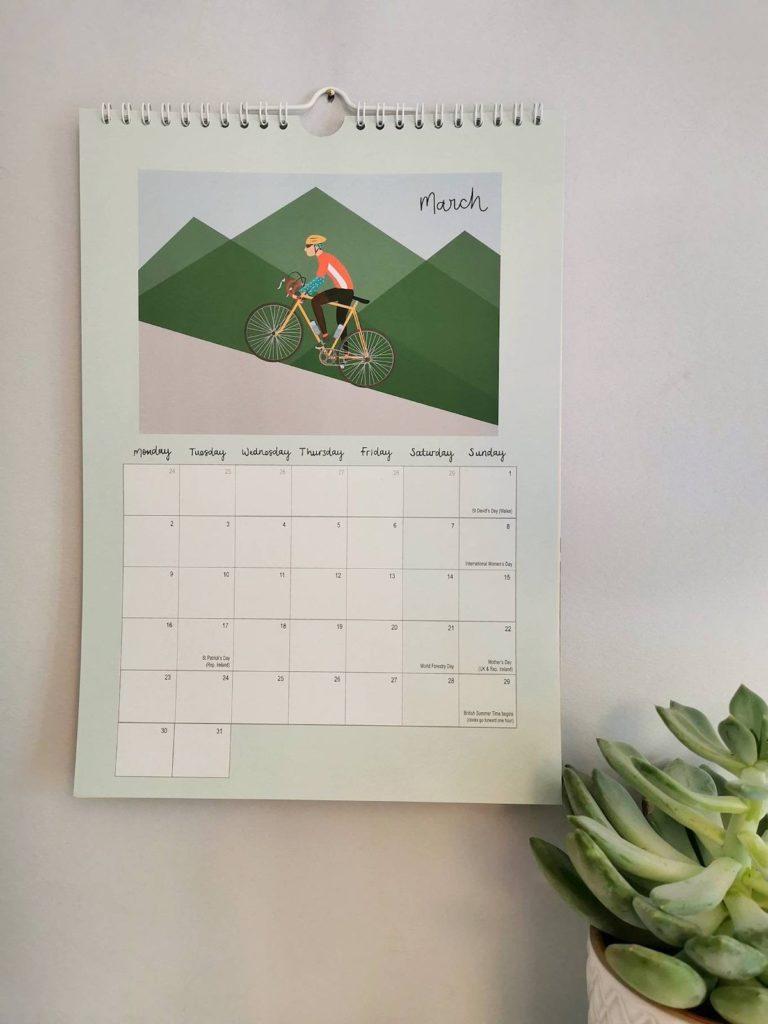 planning illustration activité extérieure vélo