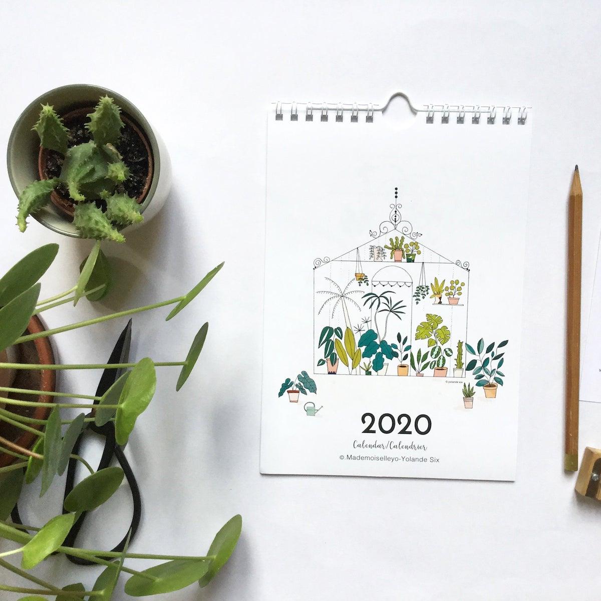 calendrier tendance cactus plantes vertes déco murale