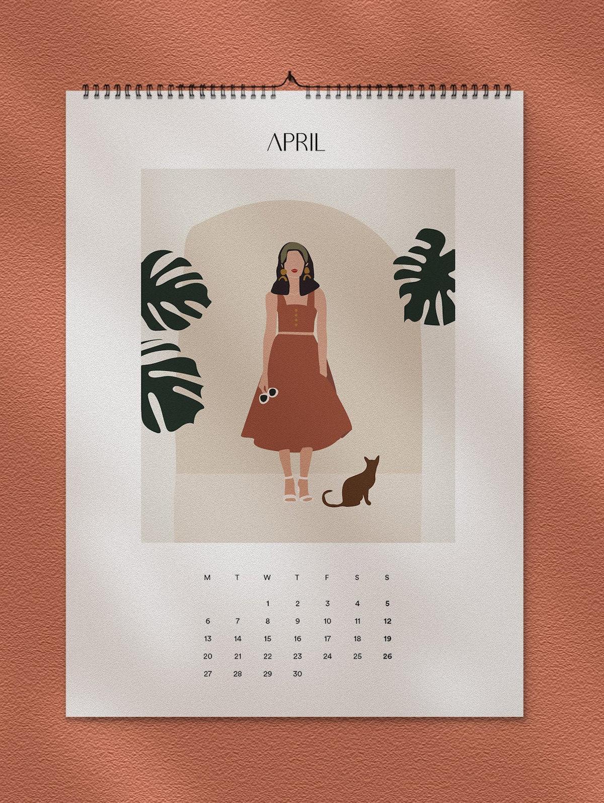 calendrier 2020 original style méditerranéen terracotta blog déco clematc