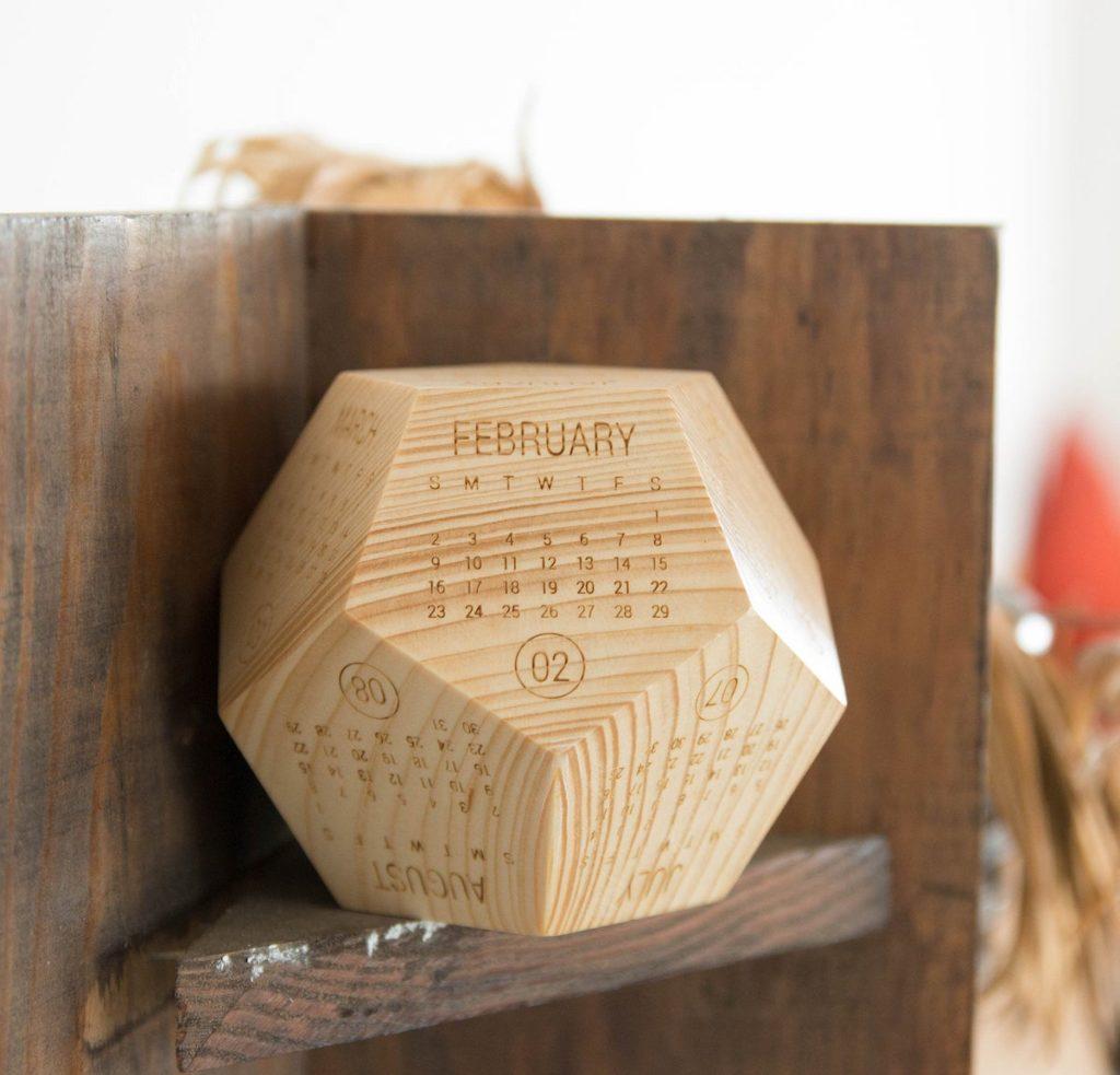 calendrier 2020 original bois cube blog déco