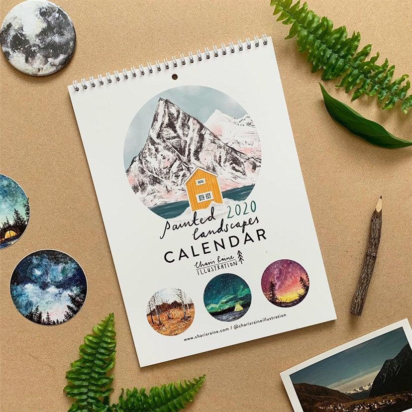 blog déco clemaroundthecorner calendrier peinture paysage ciel univers
