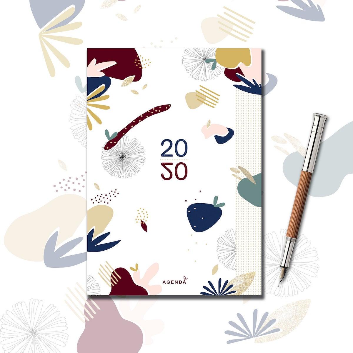 agenda 2020 illustration abstraite originale blog déco