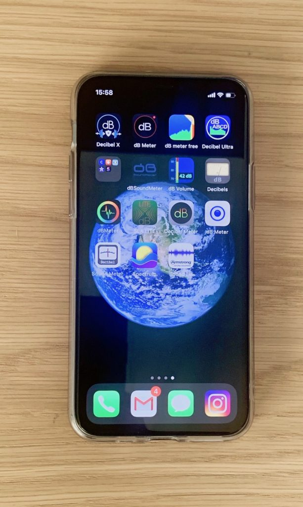 application mobile iphone app test volume sonore decibel isolation acoustique phonique bruit