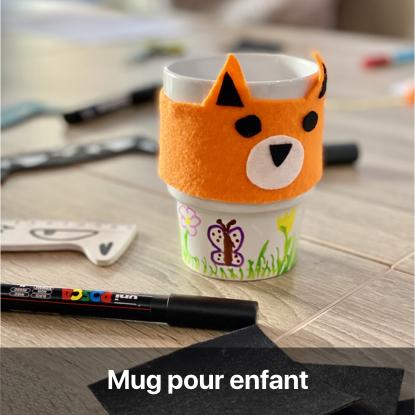 diy bricolage enfant activité manuelle mug personnalisé feutre posca porcelaine