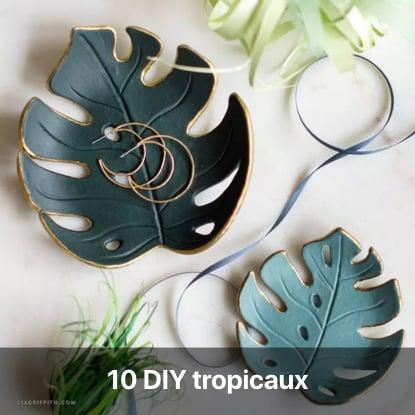 DIY thème tropical tutoriel - blog diy création déco - clem around the corner