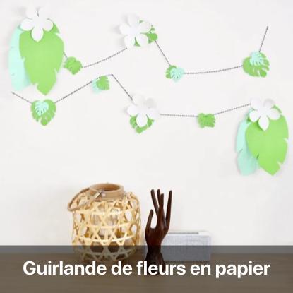 guirlande papier urban jungle déco patron modele gratuit téléchargeable gratuitement