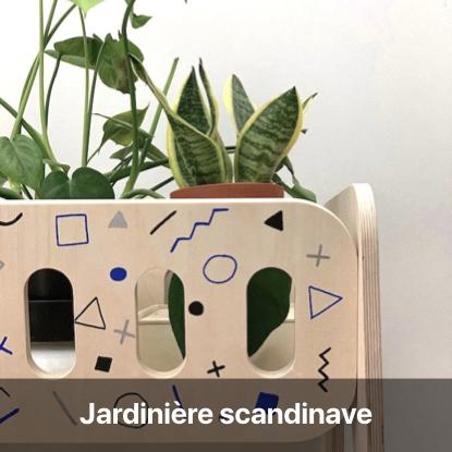 jardinière scandinave tutoriel - blog diy création déco - clem around the corner