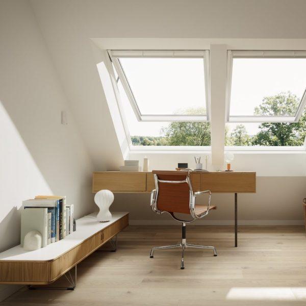 bureau sous combles velux mezzanine design - blog déco - clematc
