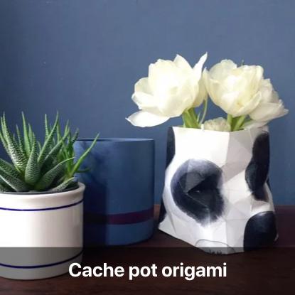cache pot origami tutoriel - blog diy création déco - clem around the corner