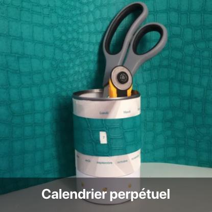 calendrier perpétuel tutoriel - blog diy création déco - clem around the corner