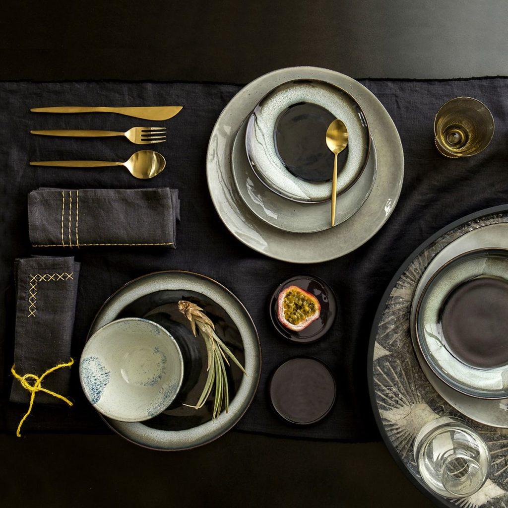 décoration sobre élégante style scandinave nappe lin