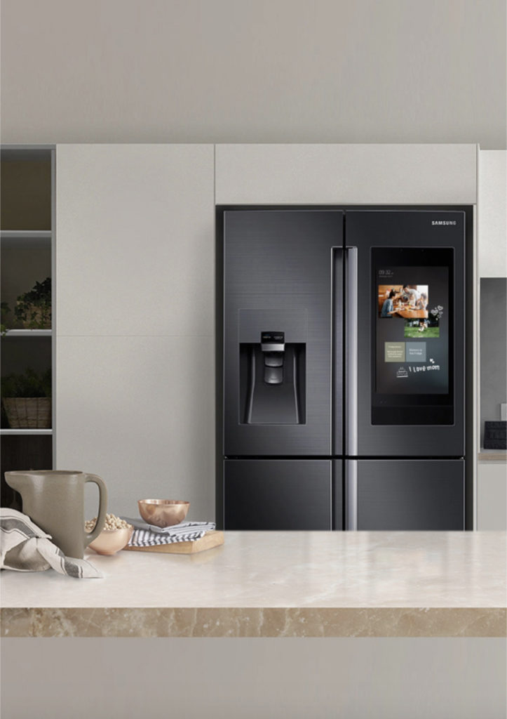 frigo samsung 2.0 hi tech familyhub tendance design kitchen - clematc