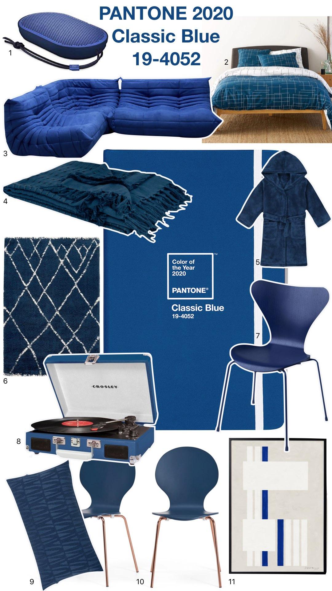 pantone 2020 classic blue bleu roi décoration intérieure - clem around the corner