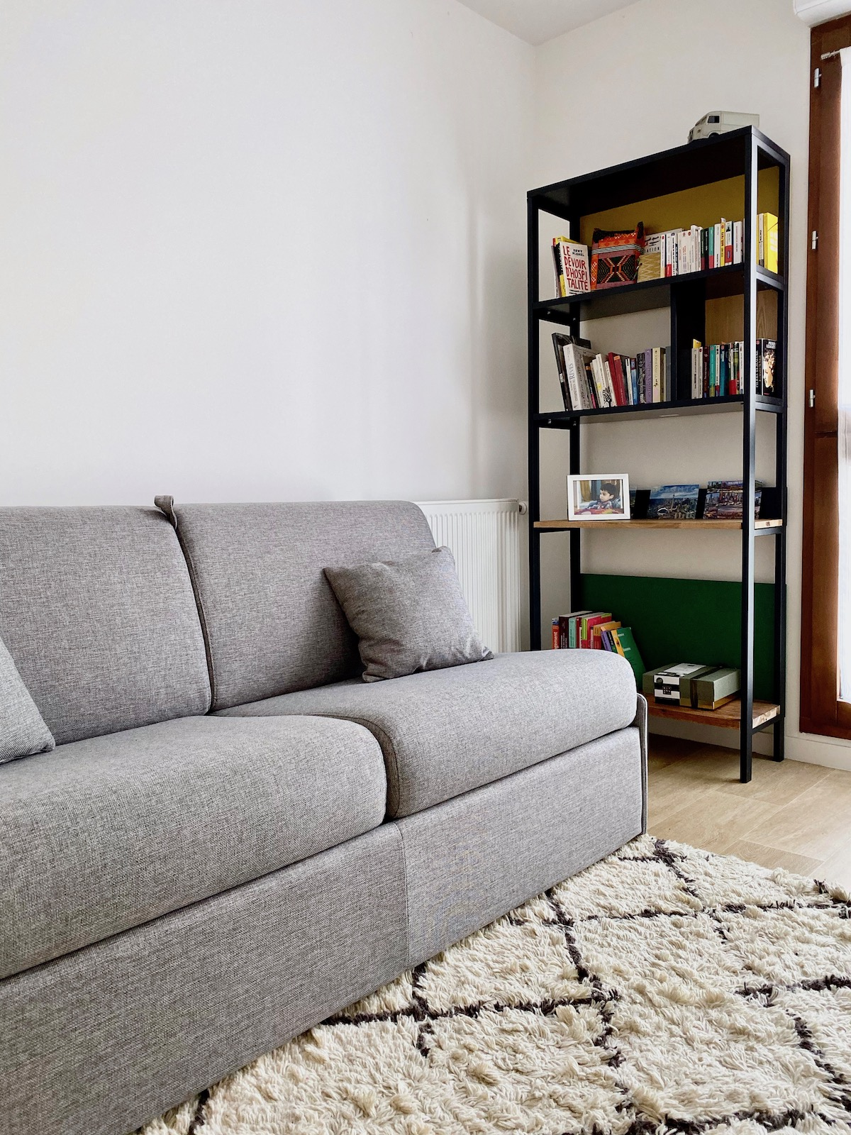 chambre amis canapé convertible confort gris chiné villa condroyer