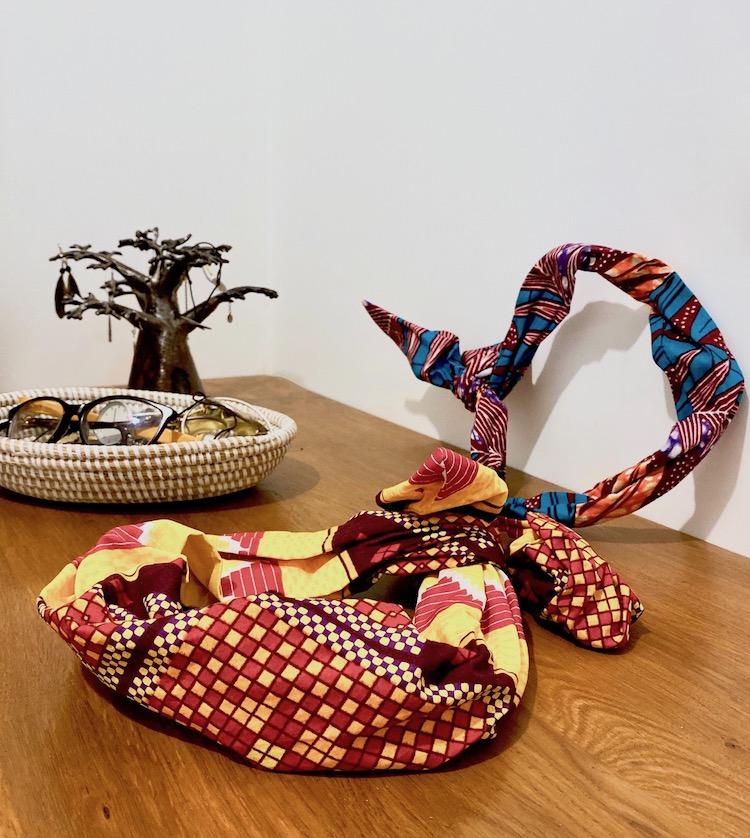 headband home max wax artisanat Sénégal noeud tissu africain cheveux