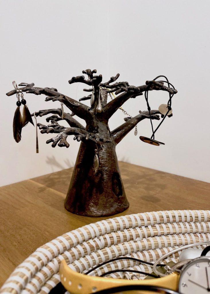 arbre à bijoux original statuette bronze Sénégal diy