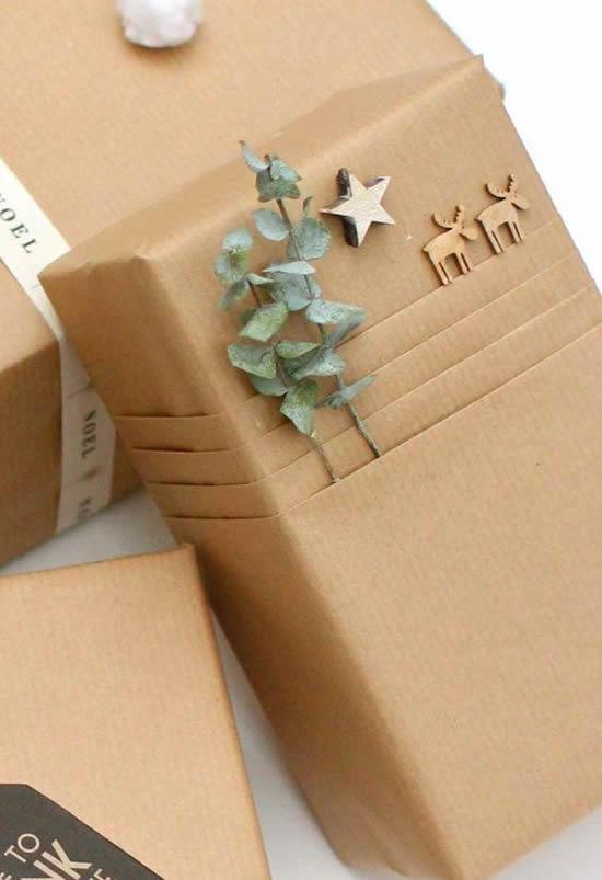 cadeau papier fait main eucalyptus déco scandinave slow living
