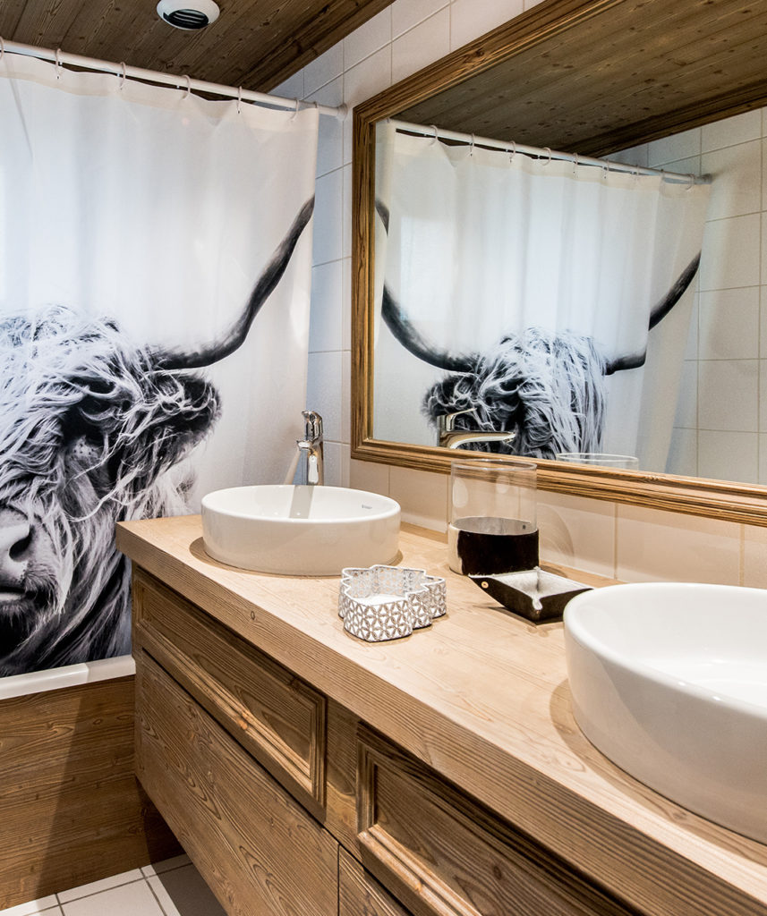salle de bain double vasque mobilier bois claire
