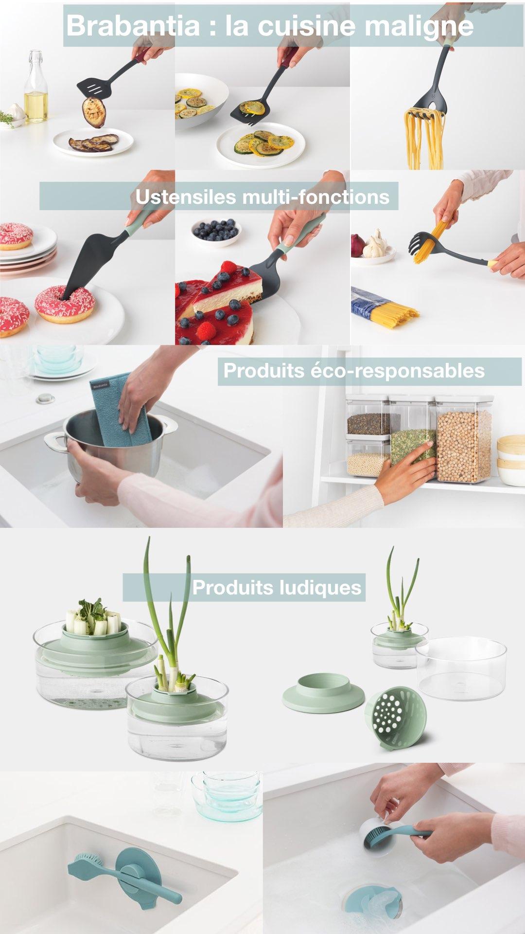 brabantia ustensile cuisine éco-responsable gain de place design ludique - blog déco