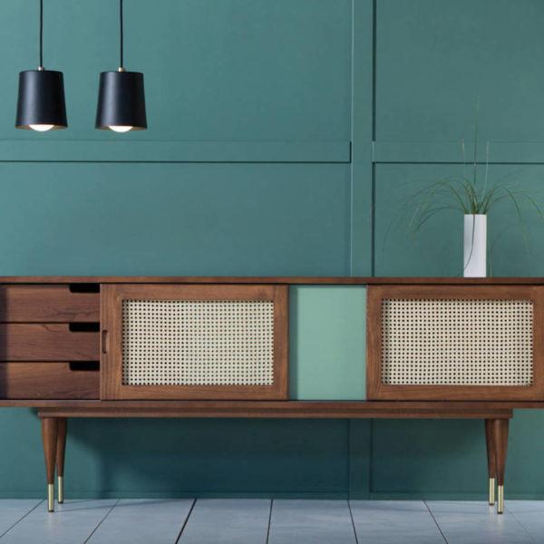 meuble cannage bois bleu pastel vintage blog déco