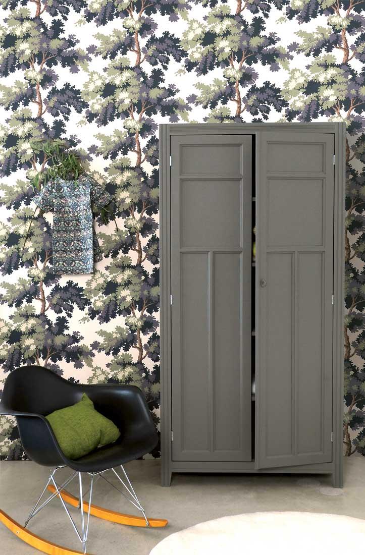 déco urban jungle kaki chaise scandinave à bascule noire