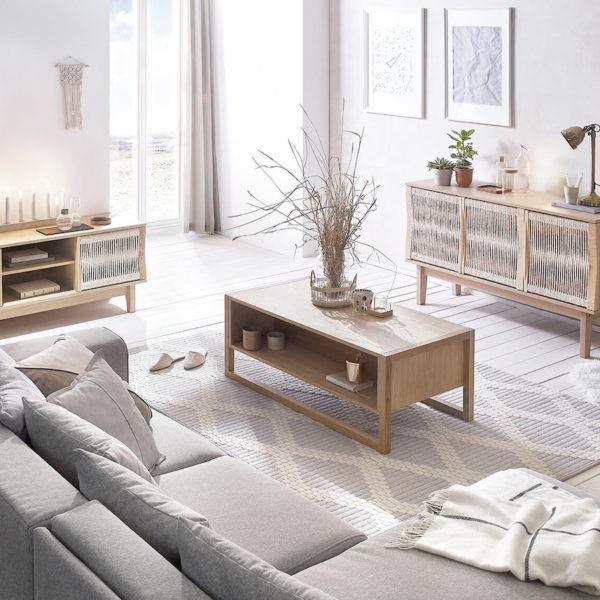 meuble tv salon design mobilier épuré - blog déco - clematc