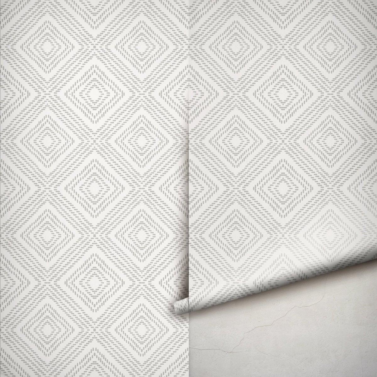 papier adhésif géométrique gris clair idée déco pratique facile à faire