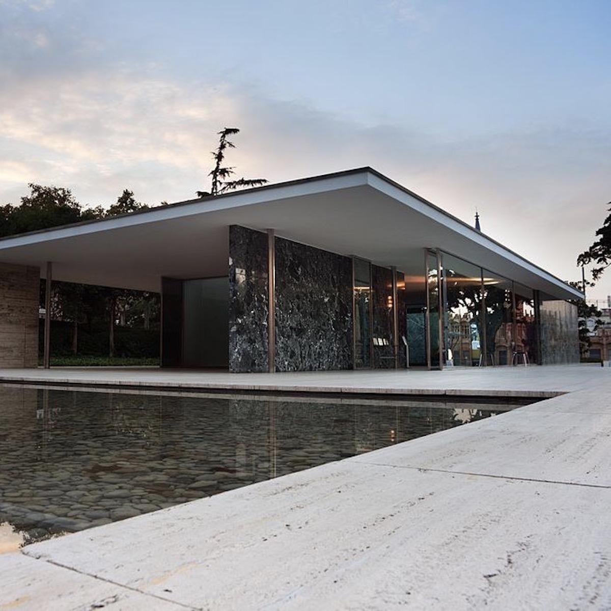 architecture pavillon allemand marbre verre métal - blog déco - clematc
