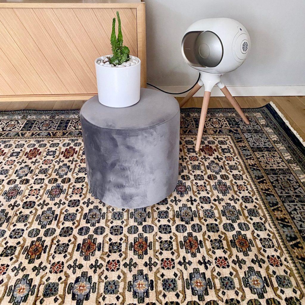 avantage tapis 100% laine qualité entretien conseil enceinte devialet design