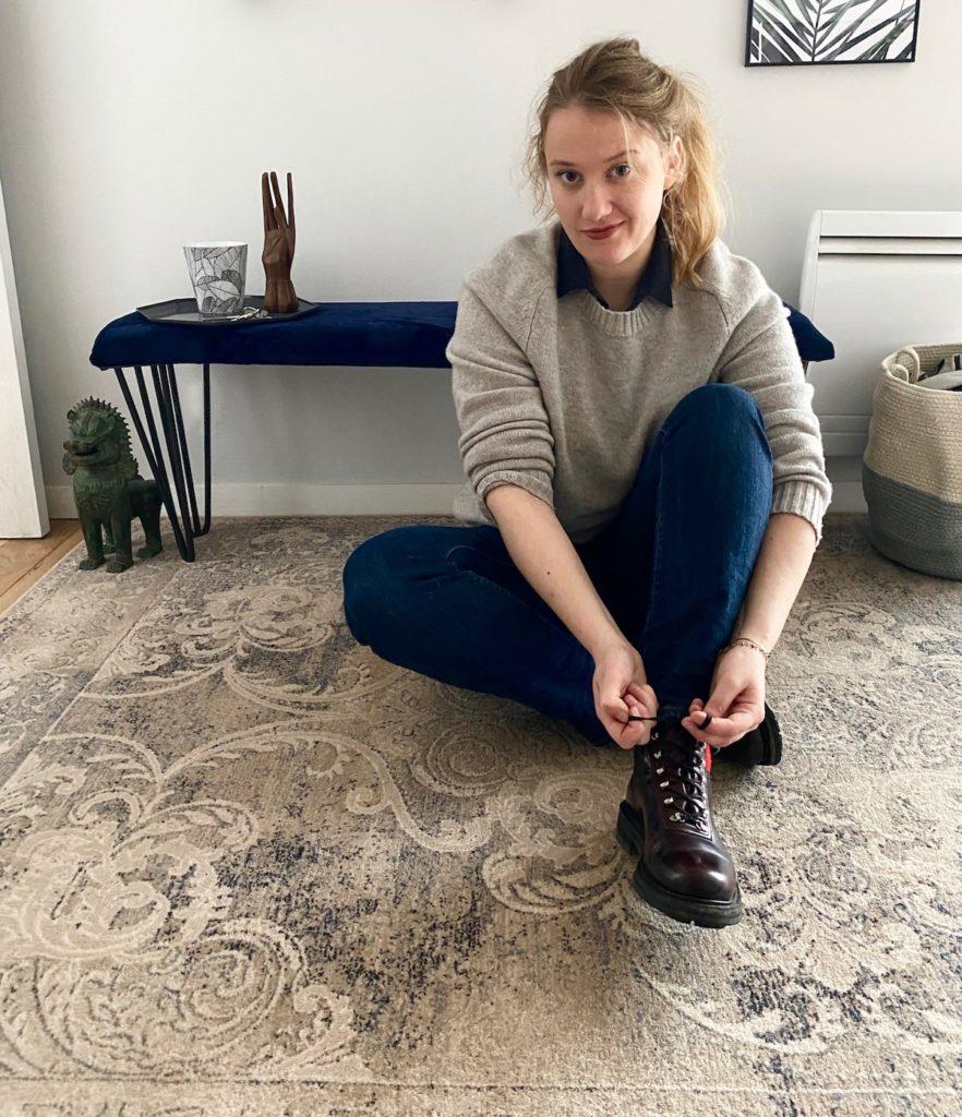 décorer une entrée appartement tapis moldave laine pas cher - blogueuse décoration - clem around the corner