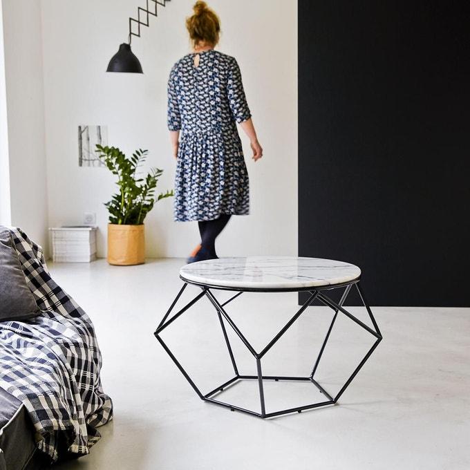 intérieur idée déco salon noir blanc marbre décoration loft clem around the corner