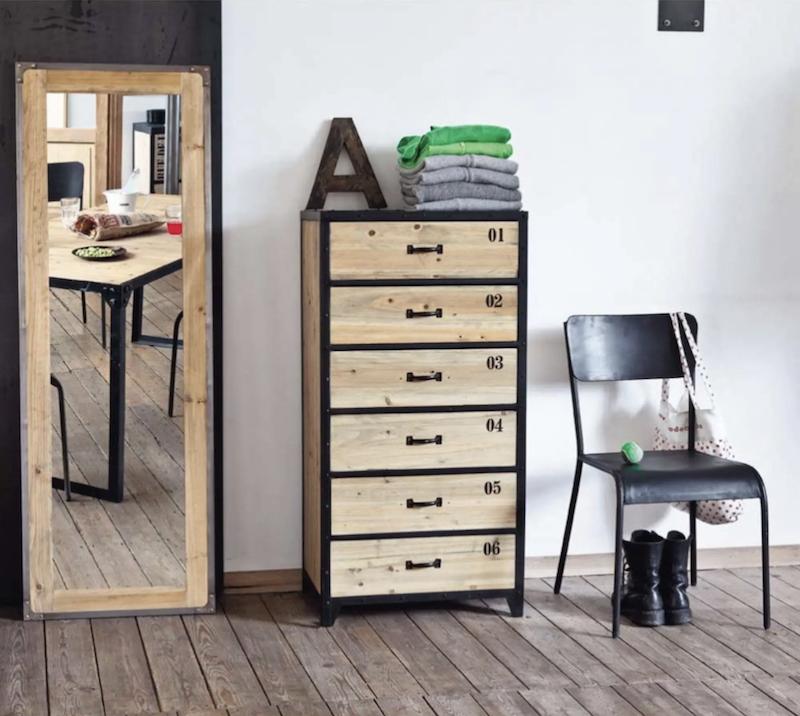 semainier meuble commode bois métal tiroir - blog déco - clem around the corner