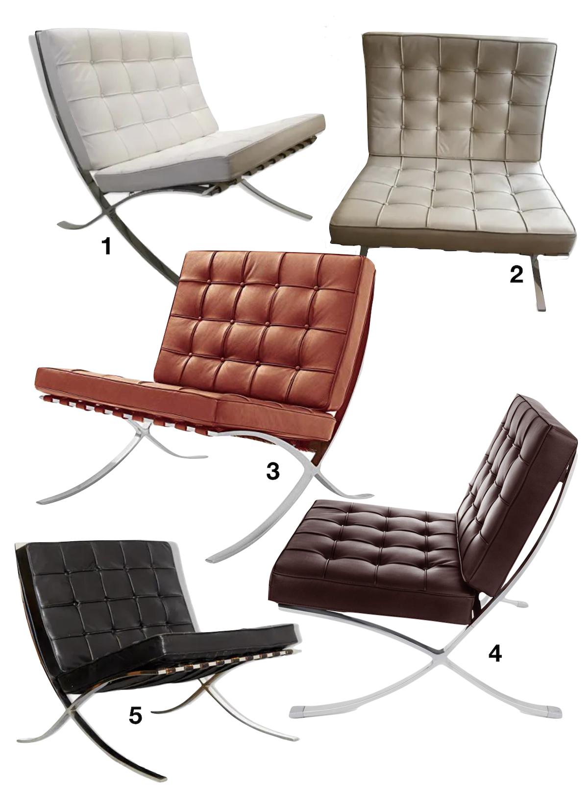 shopping liste chaise fauteuil barcelone barcelona selency - blog déco - clematc