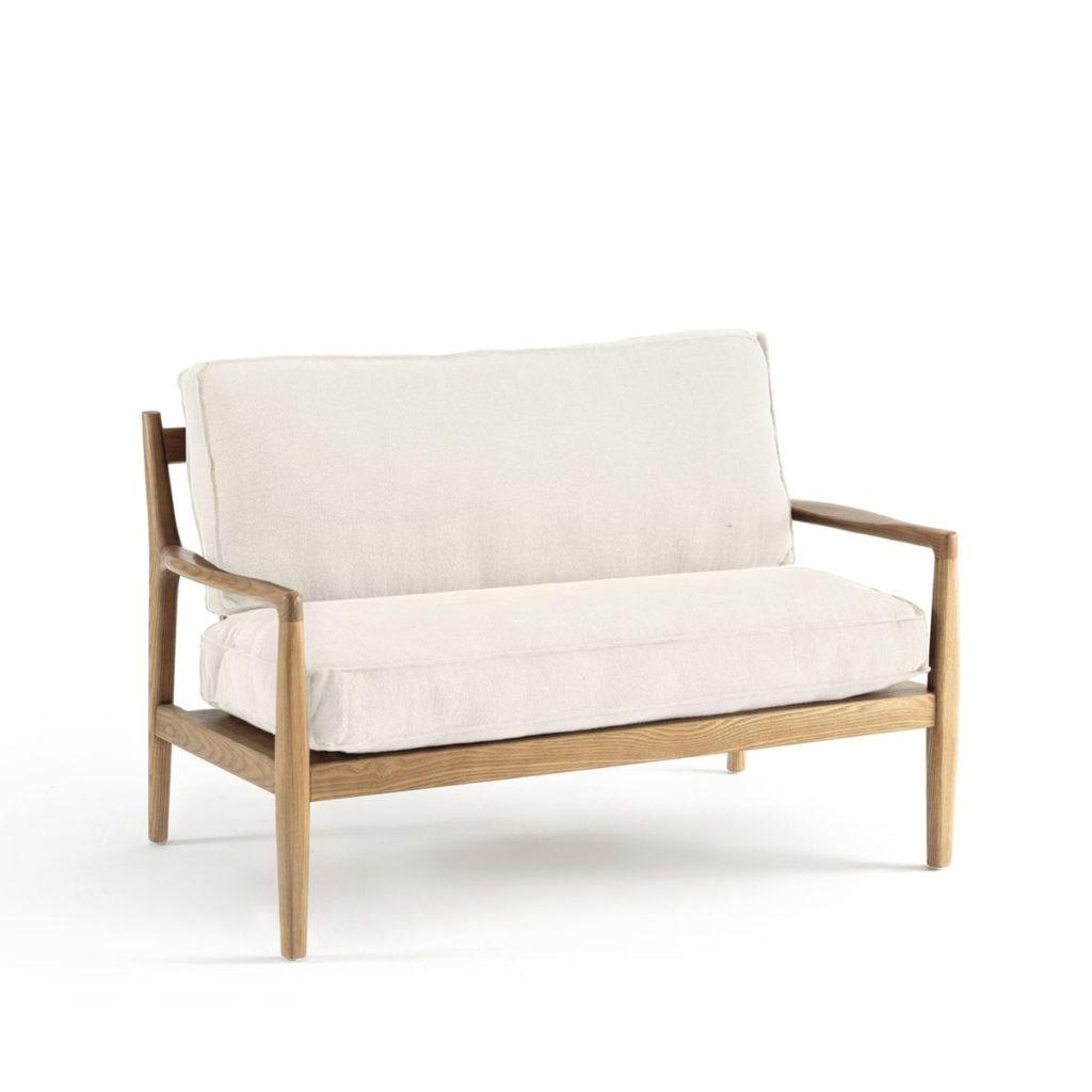 soldes hiver 2020 chez La Redoute canapé banquette bois lin design classique moderne - blog décoratrice intérieur - clem around the corner
