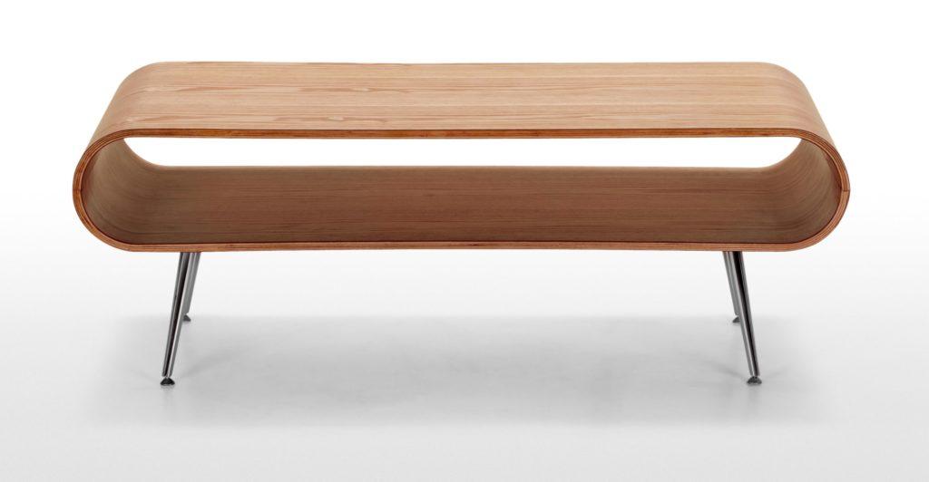 table basse design pas chère bois métal ovale - blog déco - clem around the corner