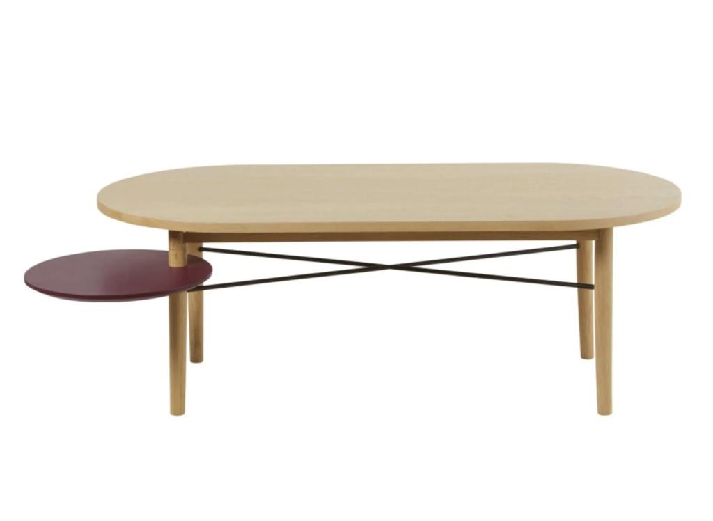 table basse design pivotante pas cher bois maison du monde bordeau rouge