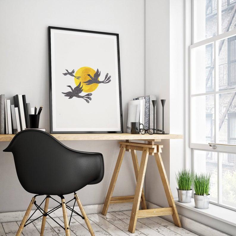 chaise plastique Charles et Ray Eames coin bureau atelier architecte bois tréteaux chaise coque plastique noire maison