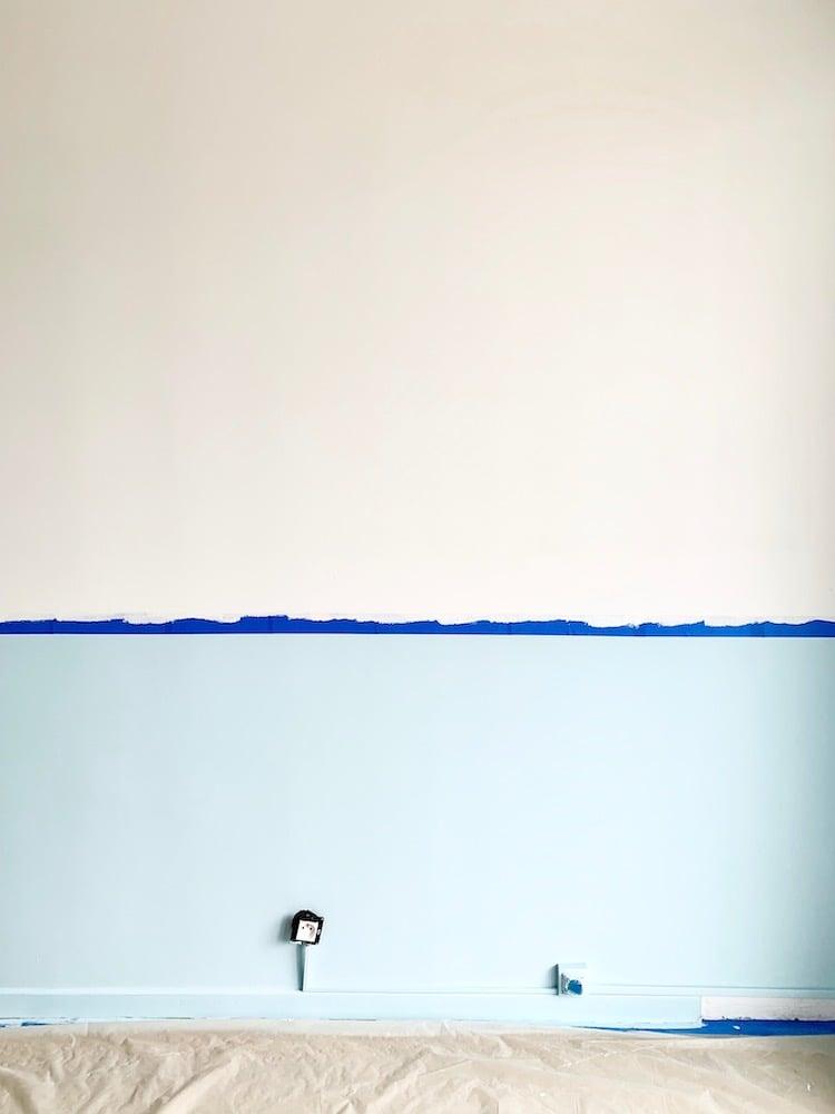 créer mur bicolore peinture decor mural - blog déco - clem around the corner