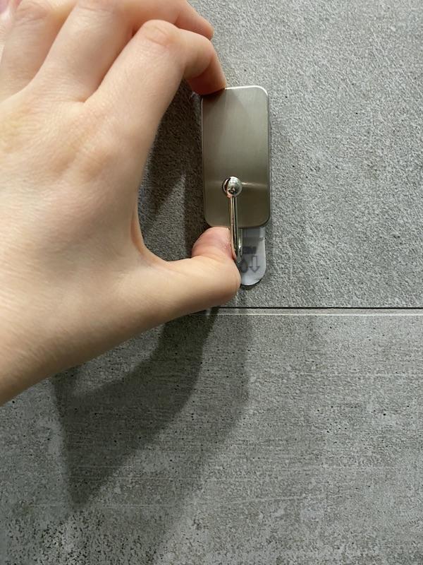 crochet métal de salle de bain 3m command