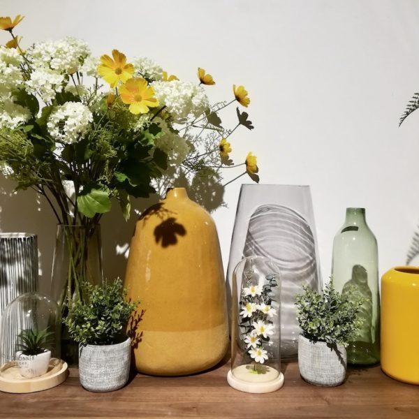 déco jaune moutarde champêtre vase design - blog décoration intérieure - clem around the corner