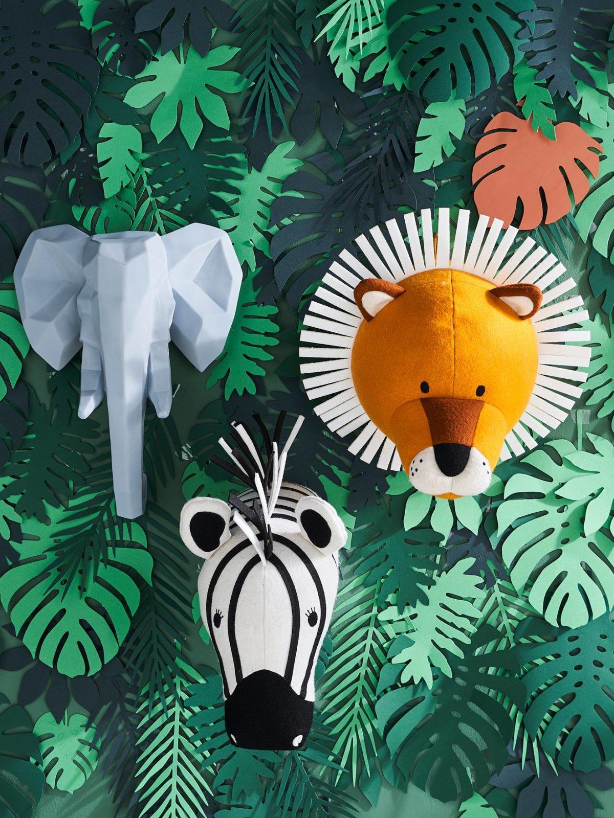 décoration jungle zèbre savane lion thème chambre enfant bébé mur - blog déco - clem around the corner