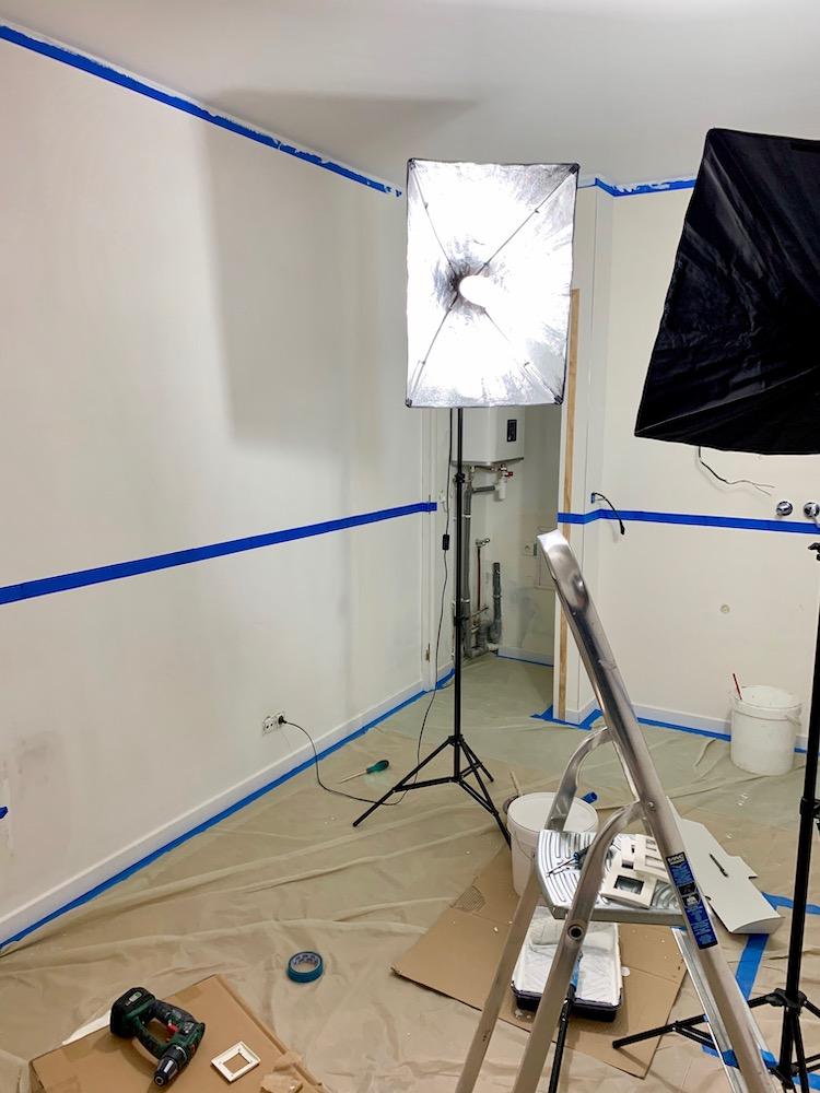 étape protection préparation peinture mur faire soi-même chambre