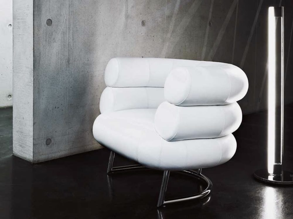 salon chaise assise icone design cuir blanc - blog déco - clemaroundthecorner