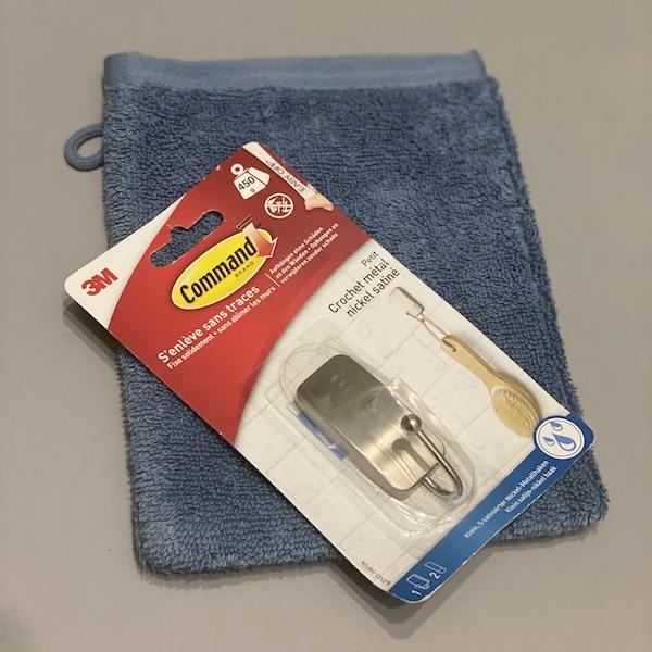 test crochet command 3m salle de bain serviette métal gant de toilette