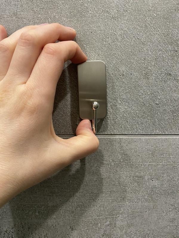 test crochet de salle de bain 3m command autocollant