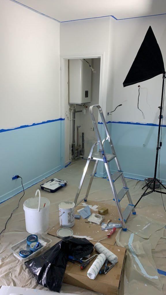 tuto travaux bricolage peinture mur bicolore étape réussir - blog décoration - clemaroundthecorner