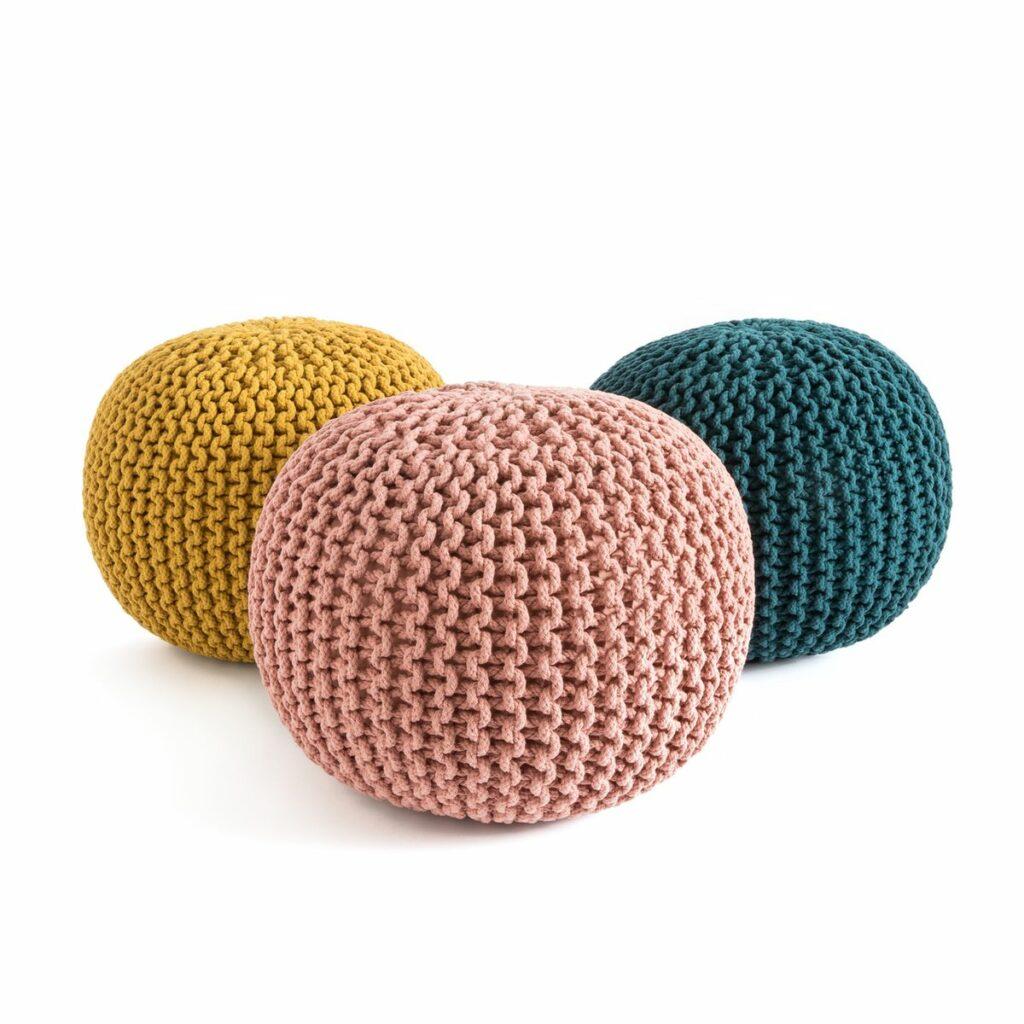 pouf tricot noeud diy à faire soi-même tutoriel - blog déco - clem around the corner