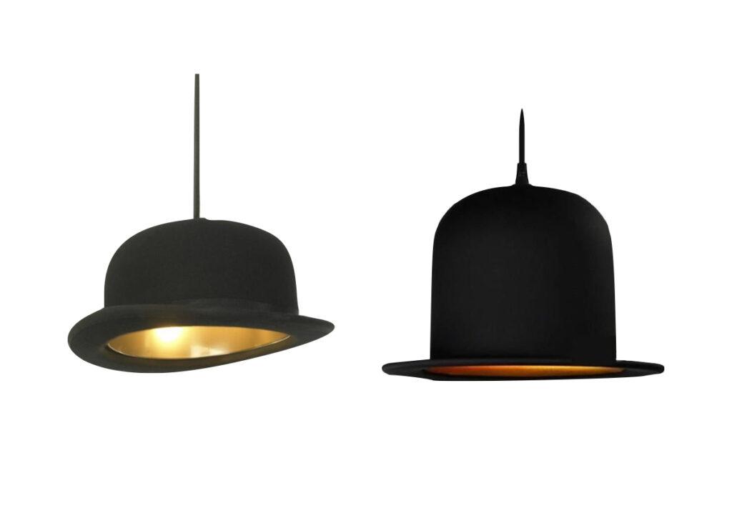 suspension chapeau melon lampe plafonnier original chambre petit garçon élégante