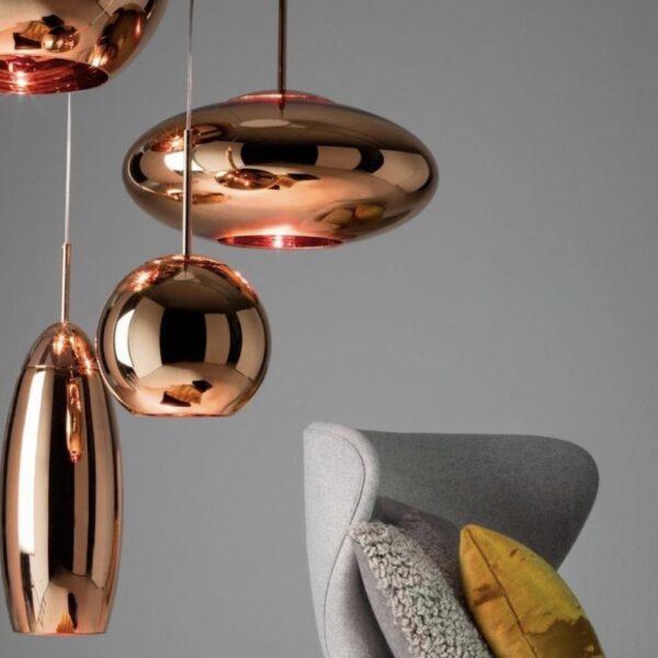 luminaire moins en cher cuivre boule design tom dixon - blog déco - clemaroundthecorner